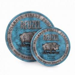 REUZEL Blue Strong Hold Water - pomáda na vodnej báze pre veľmi silnú fixáciu a mokrý vzhľad