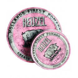 REUZEL Pink Heavy Grease - pomáda na báze oleja a vosku s dvoma rozdielnymi fixáciami