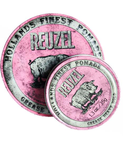 REUZEL Pink Heavy Grease - pomáda na bázi oleje a vosku se dvěma rozdílnými fixacemi
