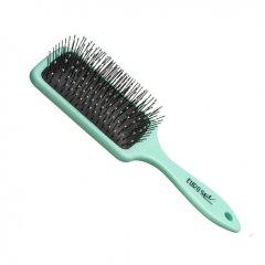 Eurostil Paddle Brush Fluorescent Turquoise S 04280 - plochá kefa na rozčesávanie vlasov S, tyrkysová