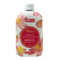 Milva Peeling - sprchový exfoliační gel s bílým jílem, 300 ml