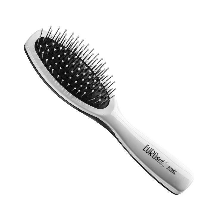 Eurostil Cushion Brush Anti-static Small 00587 - kartáč na rozčesávání vlasů, antistatický