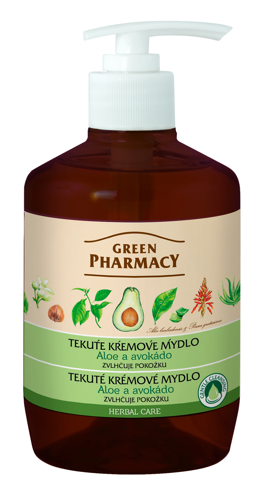 Green Pharmacy Aloe a Avokádo - tekuté krémové mydlo zvlhčujúce pokožku, 460 ml
