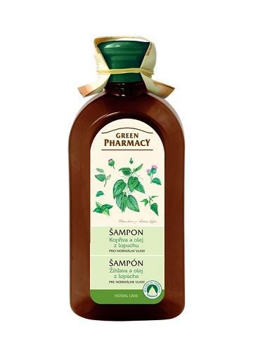 Green Pharmacy Žihľava a olej z koreňov lopúcha - šampón pre normálne vlasy, 350 ml