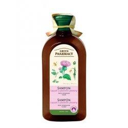 Green Pharmacy Lopuch a pšeničné proteiny - šampon proti vypadávání vlasů, 350 ml