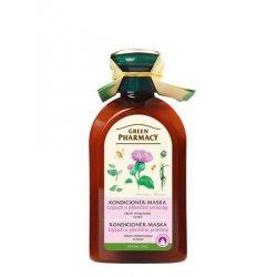Green Pharmacy Lopuch a pšeničné proteiny - kondicionér-maska proti vypadávání vlasů, 300 ml