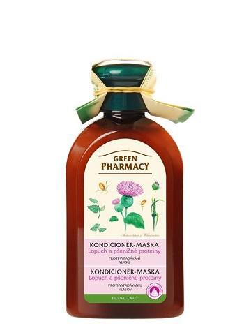 Green Pharmacy Lopúch a pšeničné proteíny - kondicionér-maska proti vypadávaniu vlasov, 300 ml