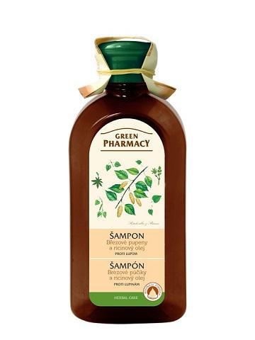 Green Pharmacy Brezové púčiky a Ricínový olej - šampón proti lupinám, 350 ml