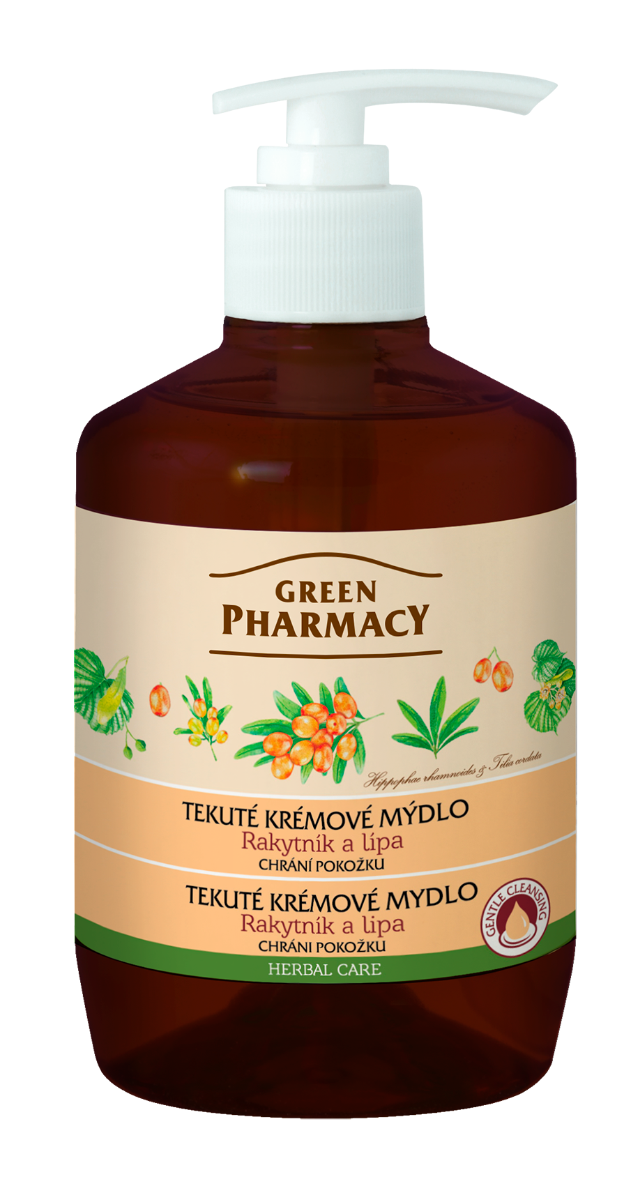 Green Pharmacy Rakytník a Lipa - tekuté krémové mydlo chrániace pokožku, 460 ml