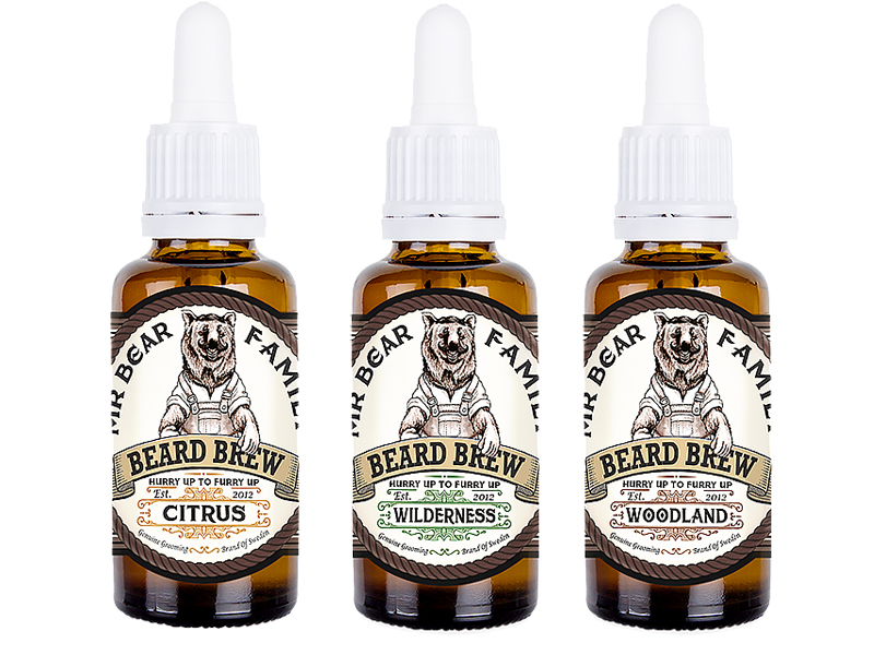 Mr. Bear Family Beard Brew - olej na bradu, 30 ml