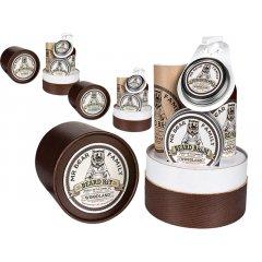 Mr. Bear Family Beard Kit - vosk na fúzy, 30 ml + olej na bradu, 30 ml + balzám na bradu, 60 ml + šampón na bradu, 250 ml
