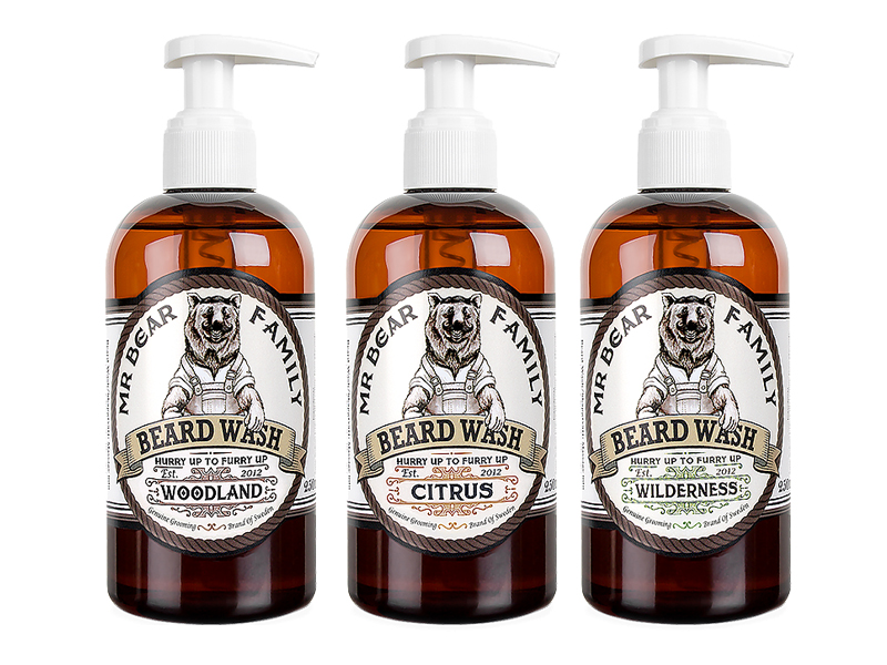​Mr. Bear Family Beard Wash - šampon na bradu, 250 ml