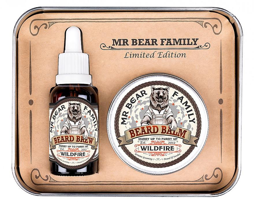 Mr. Bear Family Limited Edition Wildfire - olej na bradu, 30 ml + balzám na bradu, 60 ml