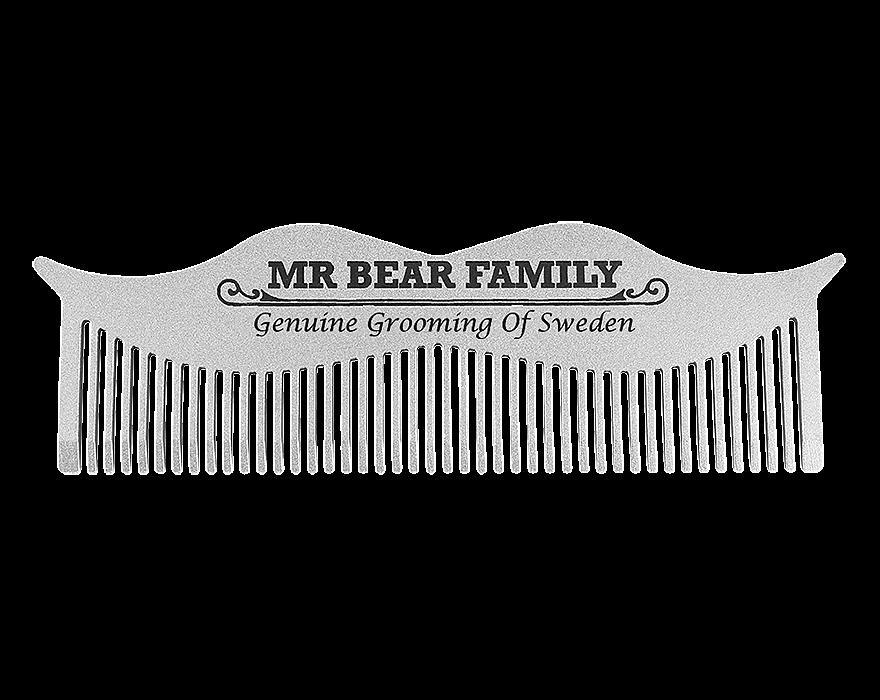 Mr. Bear Family Moustache Comb - ocelový hřeben na vousy