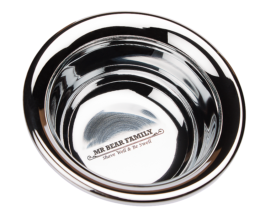 Mr. Bear Family Shaving Bowl - Stainless Steel /2530/ - miska na holenie, nerezová