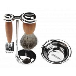 Mr. Bear Family Shaving Kit - sada na holení - stojan, miska na holení, štětka na holení, strojek na holení, žiletky