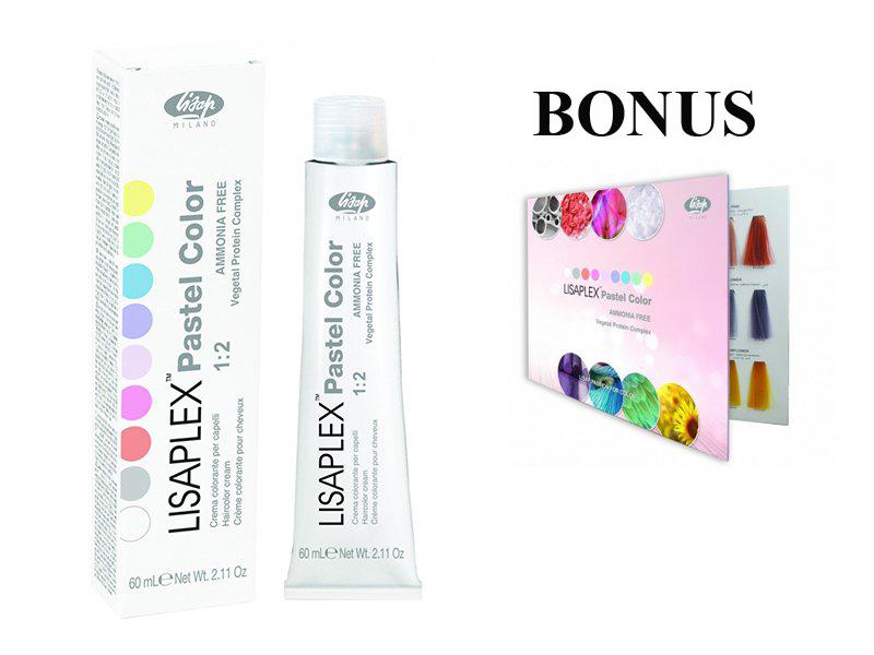 AKCIA: 10 ks Lisaplex pastel color - semi-permanentné pastelové farby, 60 ml + vzorkovník