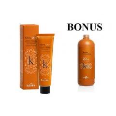 AKCIA: 15x Keyra cosmetics - profesionálna farba na vlasy s keratínom, 100 ml + peroxid 900 ml