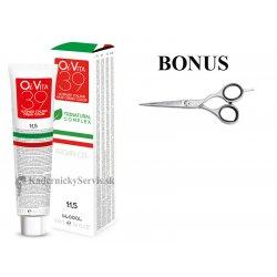 AKCIA: 20 ks OiVita 39 Hair Cream Color - profesionálna hydratačná krémová farba na vlasy, 100 ml + Kiepe Studio Techno nožnice