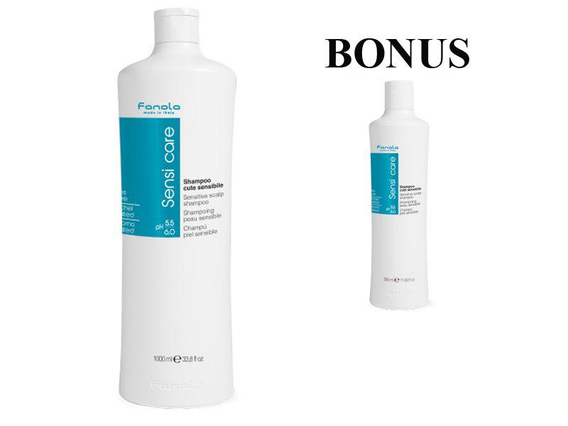 AKCIA: Fanola Sensi Care - šampón na citlivú pokožku, 1000 ml + šampón, 350 ml