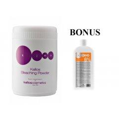 AKCE: Kallos KJMN - melírovací prášek, 500 g + KJMN Hydrogen peroxide emulsion - krémový neparfémovaný peroxid, 1000 ml