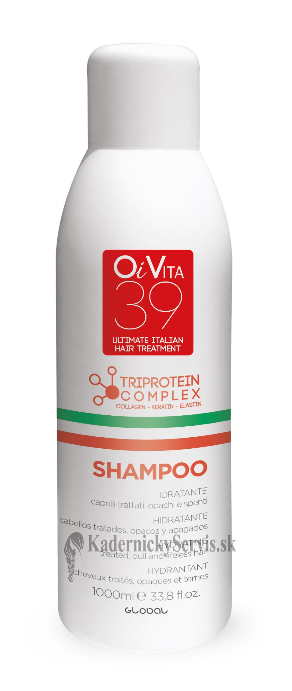 OiVita 39 Hydrating Shampoo - rekonštrukčný vyživujúci šampón, 1000 ml
