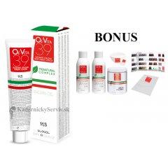 ŠTART 2 : 20 ks OiVita 39 Hair Cream Color - profesionálna hydratačná krémová farba na vlasy, 100 ml + 2 x oxidant 6%,1000 ml + melír, 500g + vzorkovník + jednorázové pláštenky + miska a štetec