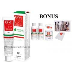 ŠTART LUX: 25 ks OiVita 39 Hair Cream Color - profesionálna hydratačná krémová farba na vlasy, 100 ml + 2 x oxidant 6%,1000 ml + melír, 500g + vzorkovník LUX + jednorázové pláštenky + miska a štetec