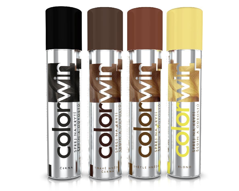 Colorwin - sprej na krytí šedin a odrostů, 75 ml