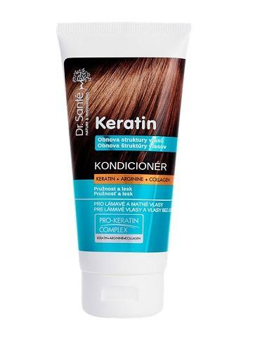Dr. Santé Keratin Moisturizing and hair recovery - kondicionér pro vlasy lámavé a bez lesku, 200 ml