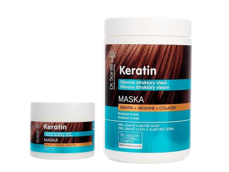 Dr. Santé Keratin Hair Structure Recovery - maska pro vlasy lámavé a bez lesku