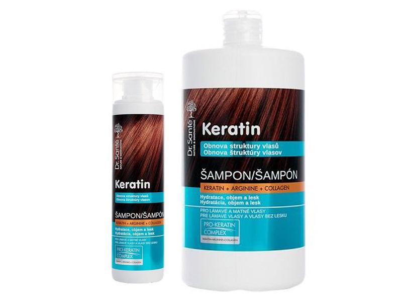 Dr. Santé Keratin Hair Structure Recovery - šampón pre vlasy lámavé a bez lesku