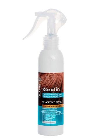 Dr. Santé Keratin Moisturizing and hair recovery - sprej pro vlasy lámavé a bez lesku, 150 ml