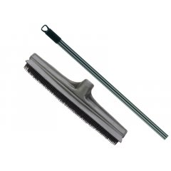 Eurostil Rubber Broom set 01223 + 01365 - gumená metla + teleskopická tyč