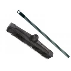 Eurostil Rubber Broom set 01285/50 + 01365 - gumená metla + teleskopická tyč