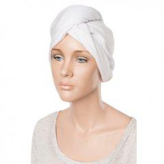 Eurostil Towel Cap No Elastic Ribbon 04433 - turban na vlasy, biely