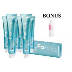 AKCIA: 10 ks Profesionálna farba na vlasy Fanola professional 100 ml + Volume šampón, 1000 ml