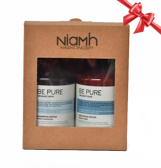 BALÍČEK: Niamh Be Pure Detox set - šampon na mastné vlasy, 500 ml + maska na mastné vlasy, 500 ml
