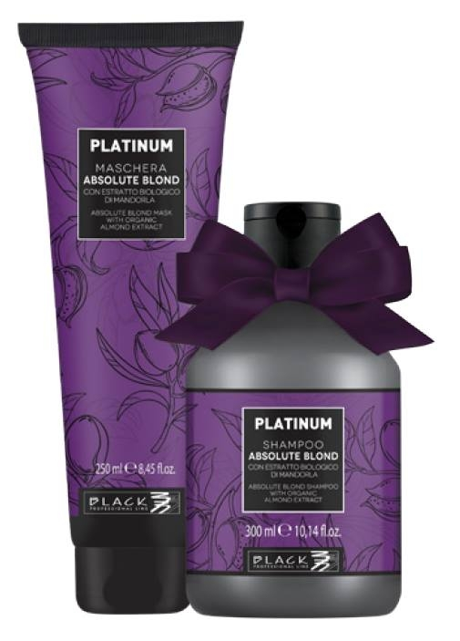 BALÍČEK: Black Platinum Absolute Blond - sada - šampon, 300 ml + maska, 250 ml