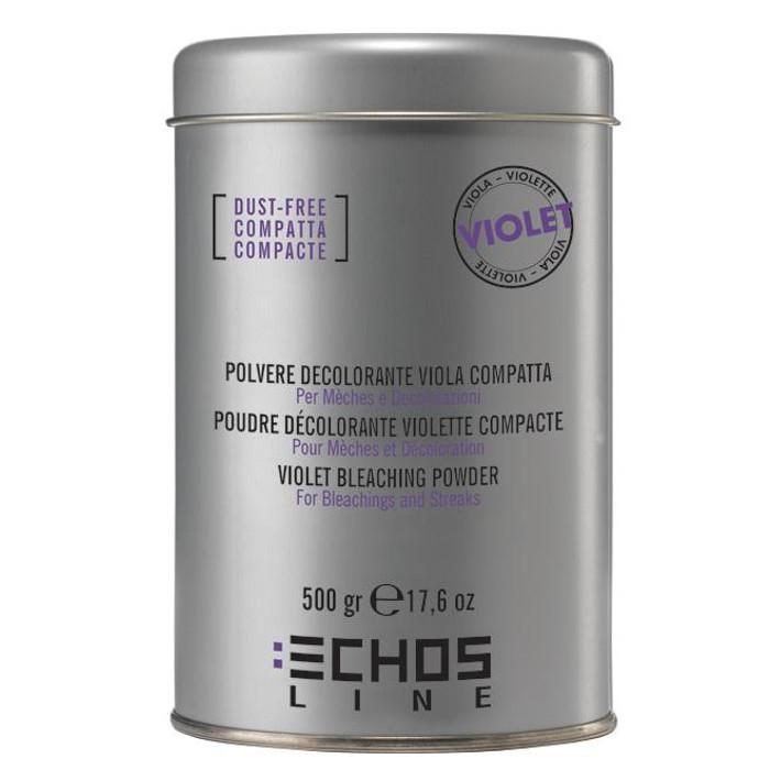 ECHOSLINE Polvere decolorant VIOLET compact - fialový, bezprašný melírovací prášok, 500g