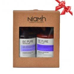 BALÍČEK: Niamh Be Pure Protective set - ochranný šampón na vlasy, 500 ml + ochranná maska, 500 ml