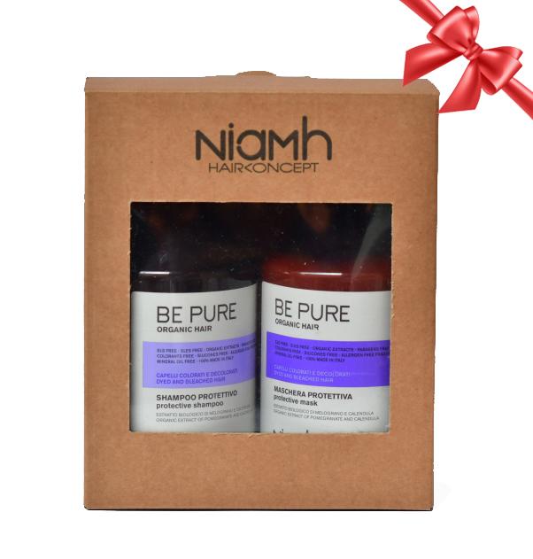 BALÍČEK: Niamh Be Pure Protective set - ochranný šampon na vlasy, 500 ml + ochranná maska, 500 ml