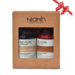 BALÍČEK: Niamh Be Pure Restore set - obnovujúci šampón na vlasy, 500 ml + obnovujúca maska, 500 ml
