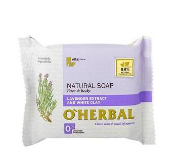 O'Herbal Natural Levander - přírodní mýdlo s extraktem levandule a bílé hlíny, 100 g