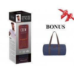 Balíček: American Crew Get the Look set - Daily Moisturizing Shampoo - šampon pro suché vlasy, 250 ml + Pomade - pomáda se střední fixací, 85 g + pánská taška