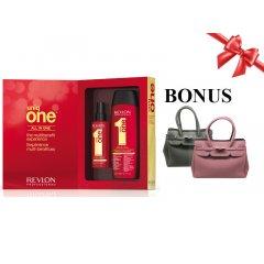 Balíček: Uniq One sada  - regeneračná kúra, 150 ml + šampón, 300 ml + neoprénová kabelka