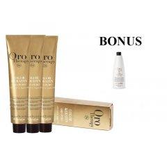 AKCIA: 10 ks Fanola Oro puro - profesionálna bezamoniaková farba na vlasy, 100 ml + Oxidant 6% 1000 ml