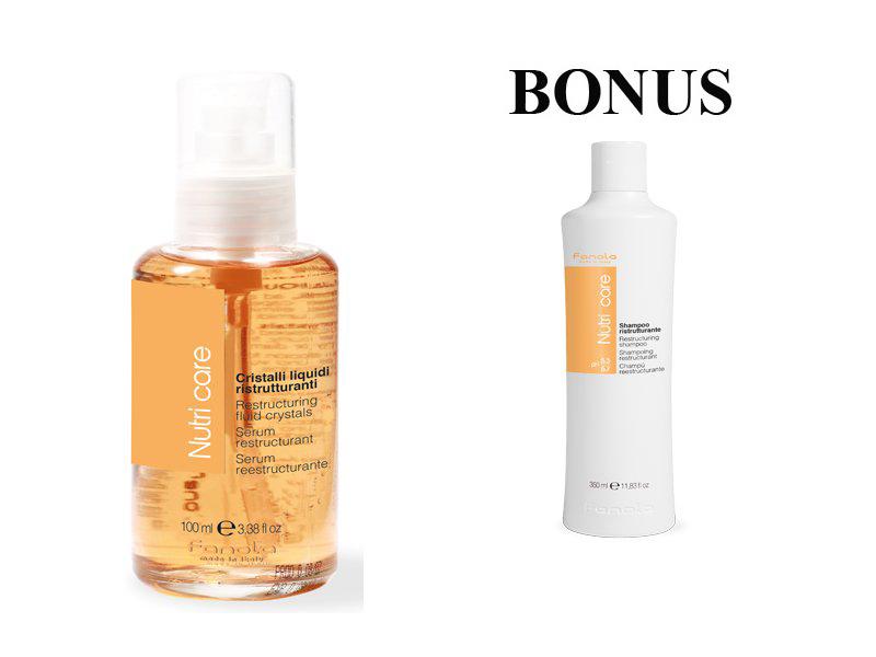 AKCIA: Fanola Nutri care Cristalli liquidi - tekuté kryštály, 100 ml + šampón Nutri care, 350 ml