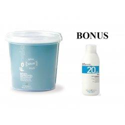AKCIA: Fanola Polvere decolorante blue - modrý zosvetľovací systém 500 g + peroxid 6% 1000 ml