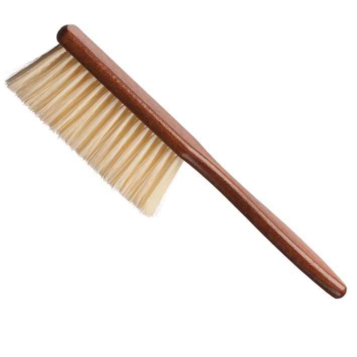 Eurostil Brush Barber Wooden Handle 00595 - extra mäkká drevená kefa na odstránenie vlasov